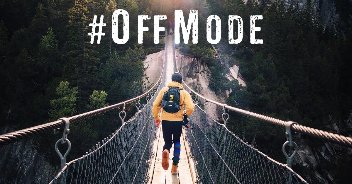 man run across bridge #offmode